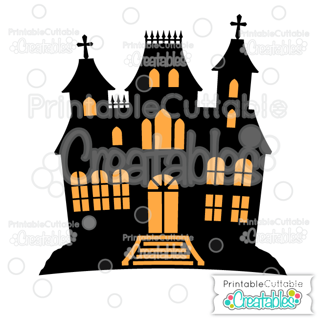 Haunted House Free SVG File & Clipart for Silhouette, Cricut