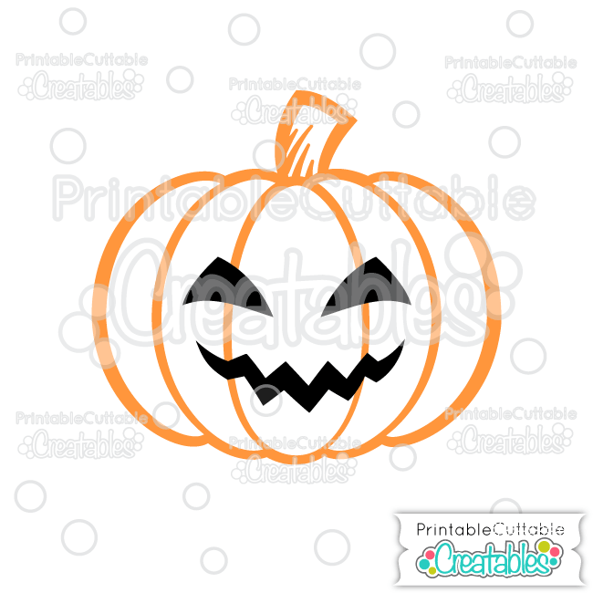 Scary Jack O Lantern Halloween Pumpkin Free SVG Cutting File