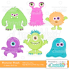Cute Halloween Monster Mash Cuttable SVG Set