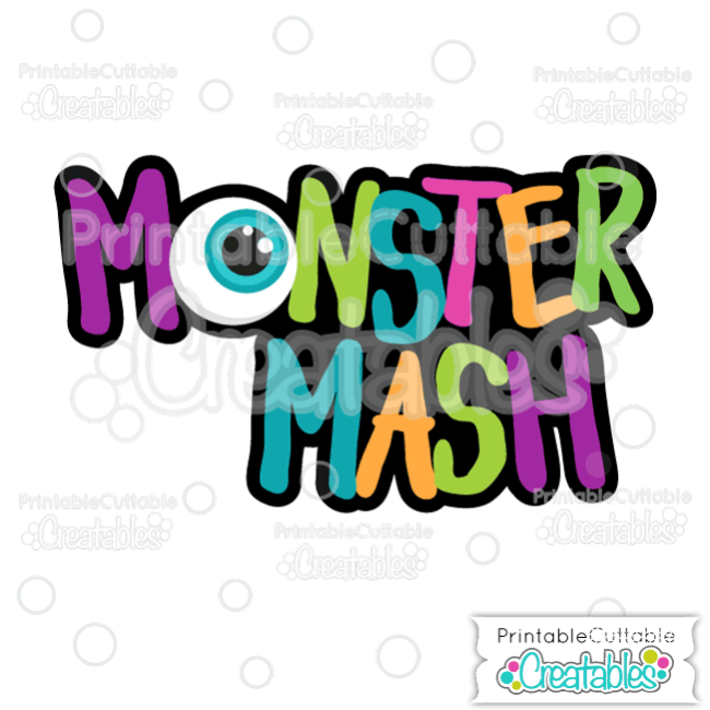 Monster Mash Scrapbook Title SVG Cutting File