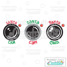 Santa Cam Free SVG Cutting File