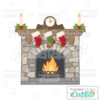 Christmas Fireplace SVG Cutting File
