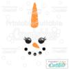 Snownicorn Snowman Unicorn Face