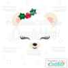 Christmas Polar Bear Face SVG Cutting File