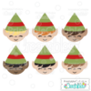 Cute Christmas Elf Free SVGs & Clipart