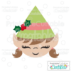 Cute Girl Elf Face SVG Cutting File