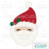 Cute Santa Face SVG Cutting File