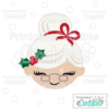 Cute Mrs. Claus Face SVG Cutting File