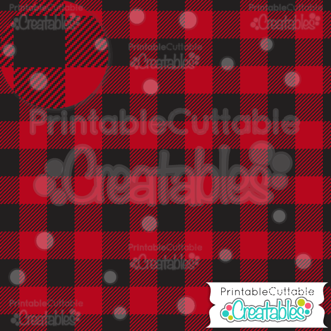Red Buffalo Plaid Digital Paper & Seamless Pattern