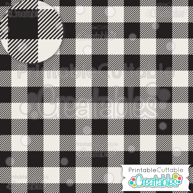 Buffalo plaid printable scrapbook paper