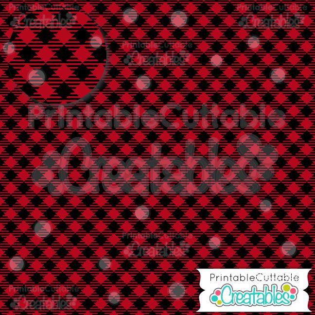 07 Red Diagonal Gingham Mini Buffalo Plaid Digital Paper Pack