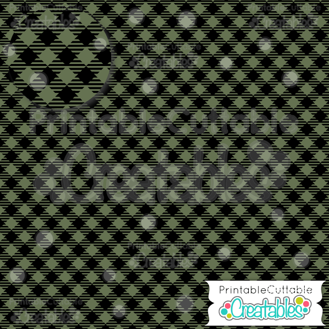 10 Green Diagonal Plaid Mini Buffalo Check Digital Paper Pack