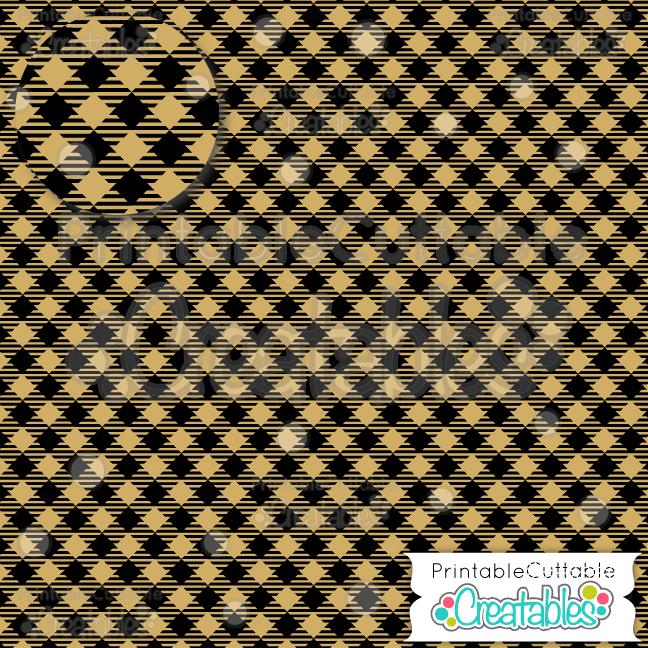 11 Yellow Diagonal Plaid Mini Buffalo Check Digital Paper Pack