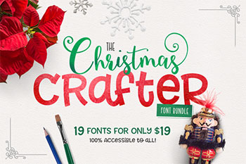 Christmas Crafter Font Bundle Commercial Use