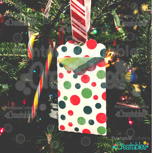 D011 Christmas Tag Gift Card Holder preview