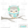 Cute Winter Owl SVG Cut File
