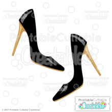 Fancy Stiletto Heels SVG Files & Clipart