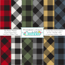 Buffalo Plaid Digital Paper Pack & Seamless Patterns