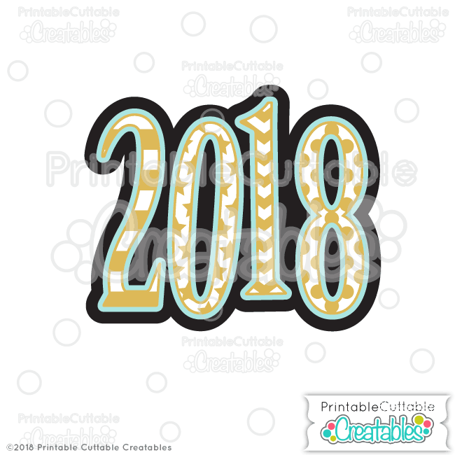 T061FB 2018 Scrapbook Free SVG File preview