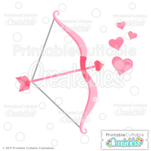 Cupid's Bow & Arrow Free SVG Files