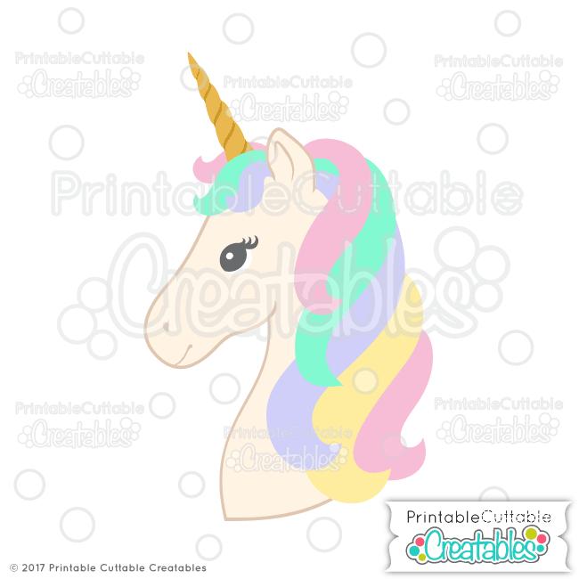 E350 Unicorn Head SVG File preview