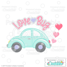 Valentine Hearts Love Bug SVG File