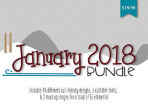 SoFontsy January 2018 SVG File & Font Bundle Commercial Use