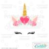 Valentine Hearts Unicorn Face Free SVG Files