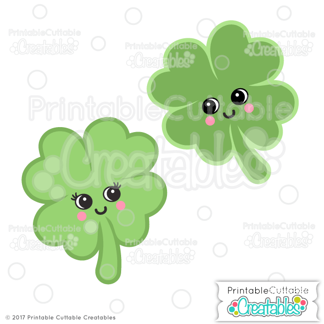 Cute Clovers Free SVG Files