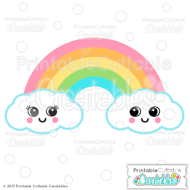 Cute Rainbow Svg File For Cricut Silhouette Cameo