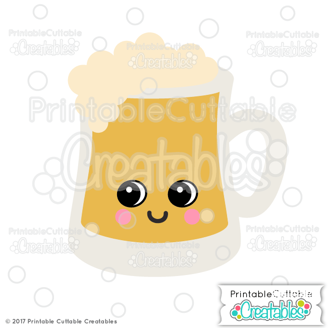Cute Beer Mug SVG File