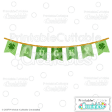 St. Patrick's Day Lucky Banner Free SVG File