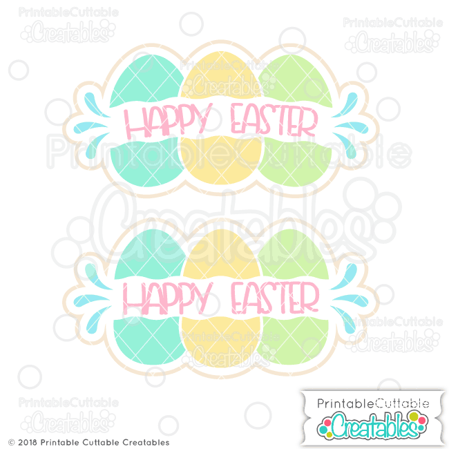 B009FB Easter Eggs Split Monogram Frames Free SVG preview2
