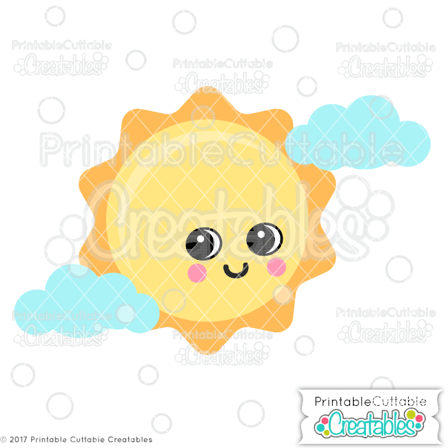 Cute Sun SVG File