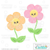 Happy Flowers Free SVG File