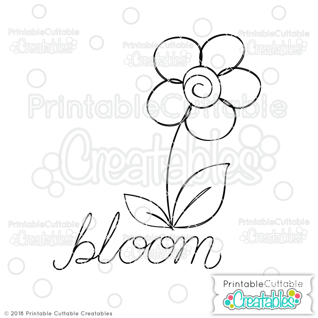 Doodle Bloom Flower Free SVG Sketch File