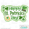 Happy St. Patrick's Day Scrapbook Title SVG File