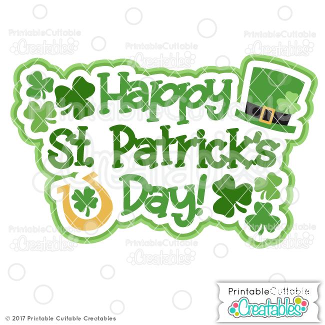 Happy St. Patrick's Day Scrapbook Title SVG File