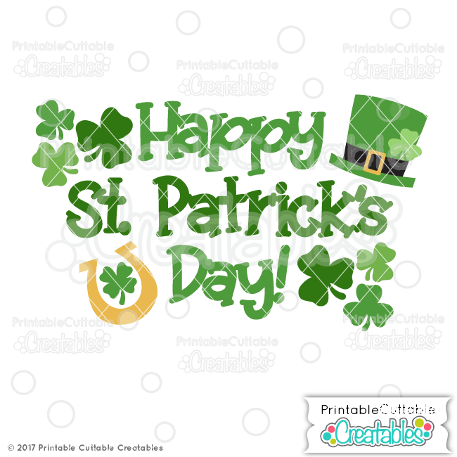 T066 Happy St Patricks Day SVG File preview1
