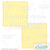 Honeycomb Background Stencil Overlays Free SVG Files