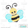 Happy Bumble Bee SVG File