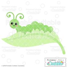 Happy Caterpillar SVG File