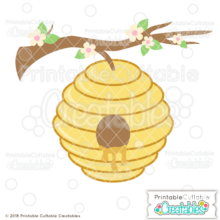 Busy Beehive SVG File