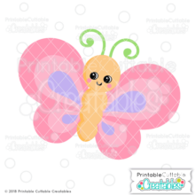 Happy Butterfly SVG File