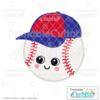 Happy Baseball SVG File