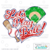 Let's Play Ball Title SVG File