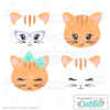 Cute Cat Face SVG Files