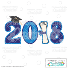 Graduation 2018 Free SVG Files