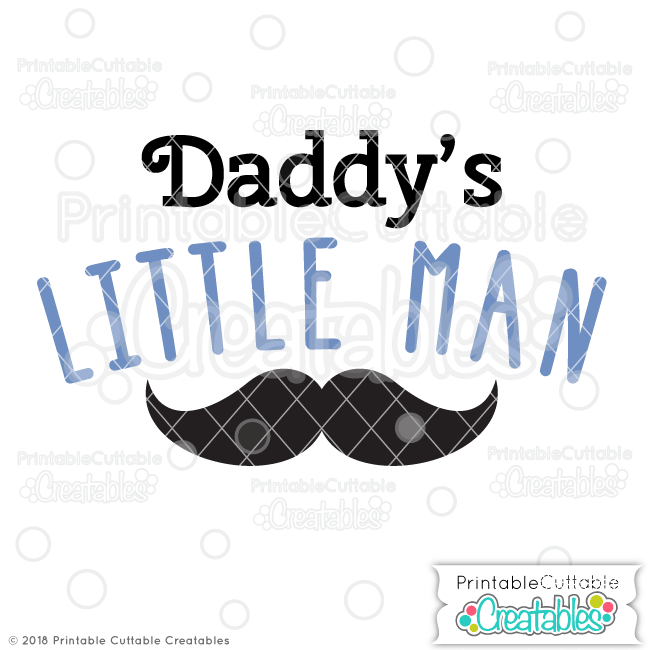 T073FB Daddys LIttle Man Free SVG File preview