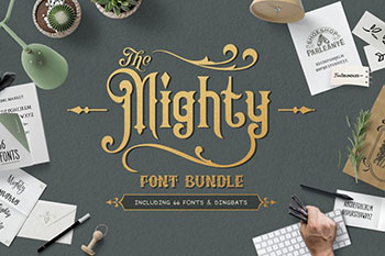 The Mighty Font Bundle Commercial Use Fonts